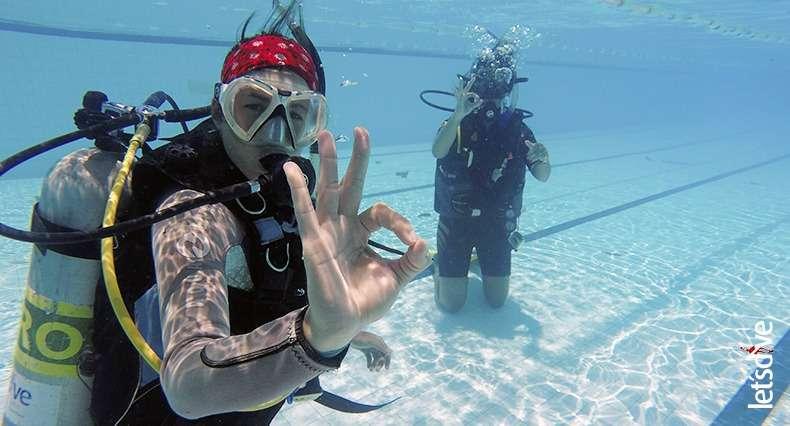 Mulheres no mergulho
