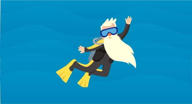 Existe idade certa para virar um instrutor de mergulho?