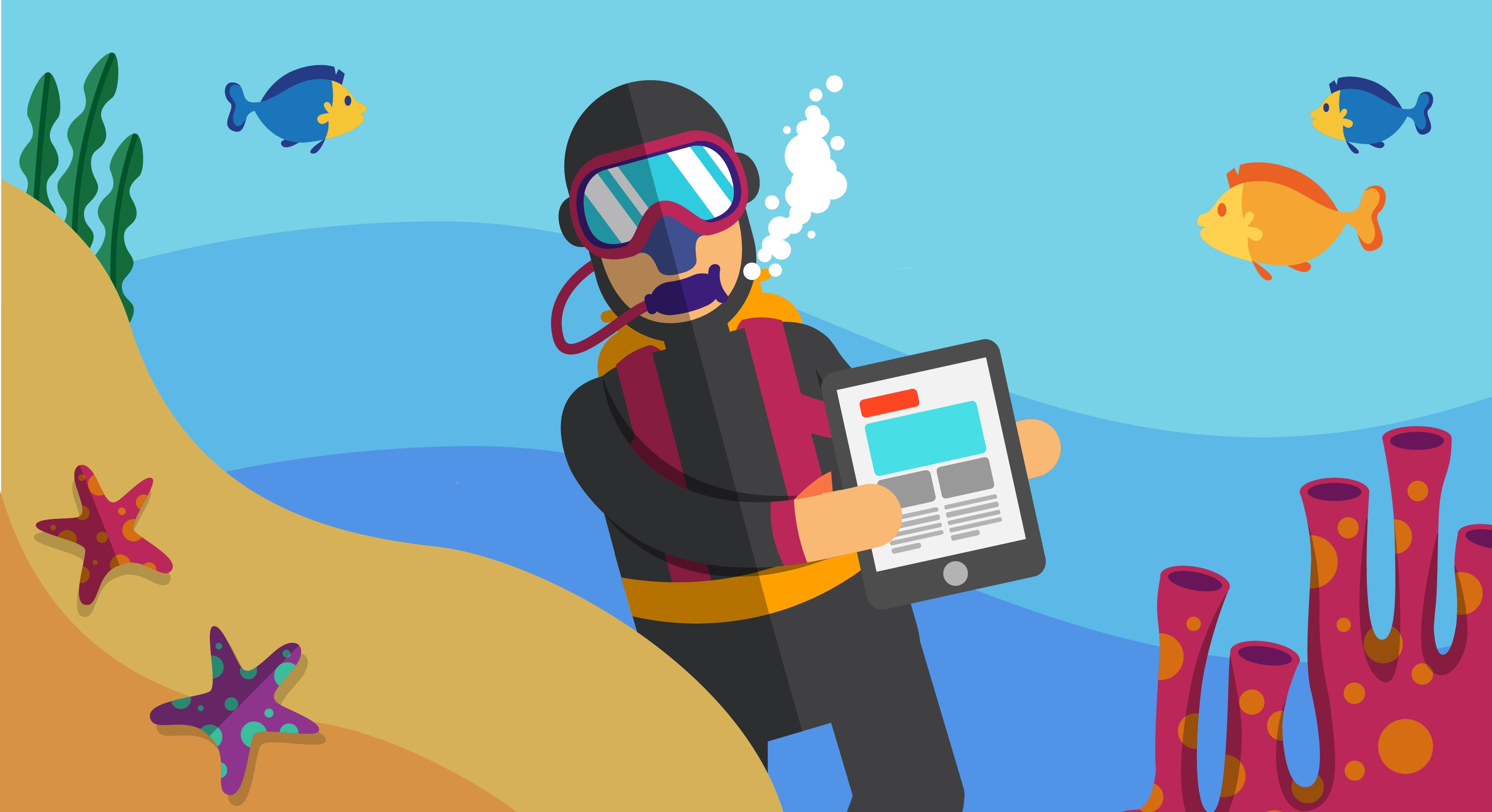 Aplicativos para instrutores de mergulho