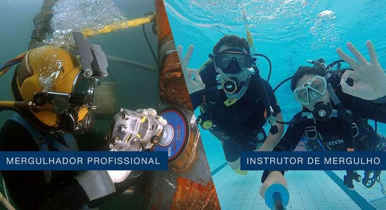Diferença mergulhador profissional e instrutor de mergulho